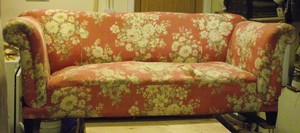 Sofa ready for restoration