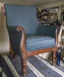 Lake District reupholstery of a chair in Coniston Cumbria