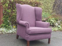 Lake District reupholstery of a wing chair in Hawkshead Cumbria