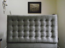 Lake District reupholstery of a headboard in Dalton in Furness Cumbria