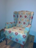 Lake District reupholstery of a wing chair in Broughton in Furness